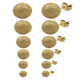 Form-Stift-Ohrringe des Edelstahl-316L, Perlen-Ohrringe, Frauen-Ohrringe