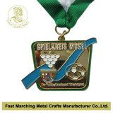 La medaglia placcata rame antico con l'alta qualità, ricordo del premio mette in mostra la medaglia