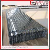 Hoja de acero acanalada galvanizada sumergida caliente del material para techos