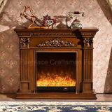 セリウム(328)が付いているヨーロッパ式の彫刻のホーム家具の電気暖炉