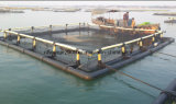 Polietileno que flota cultivando jaulas de los pescados