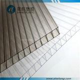 Hoja transparente de la azotea de la luz del sol del policarbonato con la capa ULTRAVIOLETA