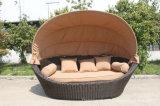 Mobilia esterna di Sunbed del rattan del Daybed della base rotonda della spiaggia
