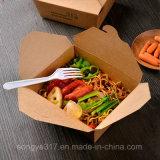 Caisse d'emballage remplaçable de papier d'aliments de préparation rapide
