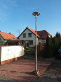 UFOの多彩な照明統合された太陽庭ライト