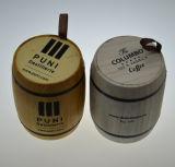 カスタムロゴの250グラムのための木のコーヒーバレル500グラム