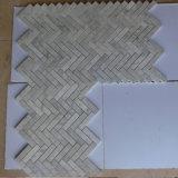 Azulejo de mosaico de cristal de mármol gris al por mayor, azulejo de mosaico Polished