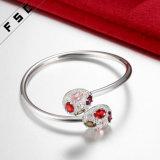 Rame della Cina dei monili di modo con il braccialetto multicolore della CZ placcato argento