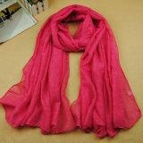 Bufanda de la viscosa del color el 100% o palillo pura de sellado caliente de la bufanda al oro