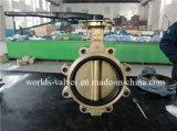 Tipo válvula de mariposa (D7L1X-10/16) del terminal del bronce de aluminio C95800