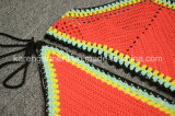 ホールターの高い首の民族のハンドメイドのかぎ針編みの水着