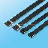 Serre-câble enduit de blocage de PVC O d'acier inoxydable