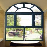 Hölzerne Farbe anodisiertes Aluminiumrahmen Lowes Glasflügelfenster-Fenster mit örtlich festgelegter Umlauf-Teil