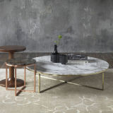 Projeto novo da parte superior do mármore da tabela de chá do aço inoxidável da forma (NK-CTA005)