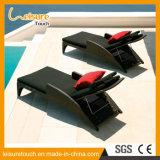 Silla de cubierta más larga de mentira de Sunbed de la base de la piscina de la playa del jardín de la rota al aire libre de los muebles