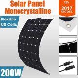 célula solar de carga flexible del kit del panel solar de 200W 12V mono