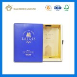 Caja de cartón embalada del cajón del rectángulo de la botella de vino de la alta calidad (rectángulo del vino de la marca de fábrica)