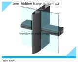 Parede de cortina Semi-Visível de vidro colorida