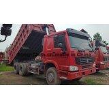 2015 modelo utilizado HOWO camión volquete de 6 * 4 371HP