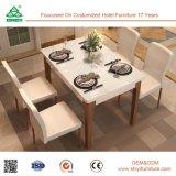 Mobília Eco-Friendly feita em China, mobília ajustada da sala de jantar da sala de jantar de madeira da cadeira de couro