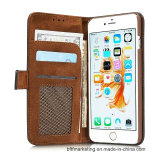 Новая кожаный передвижная крышка случая сотового телефона для iPhone