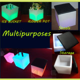 Mobilier lumineux à LED Cube Stool Open Storage Cube