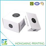 ロゴプリントFoldable白いボール紙の靴箱