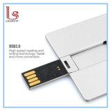 Mecanismo impulsor del flash del USB de la insignia del OEM de la tarjeta de visita