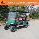 Carrello di golf elettrico di Seaters del commercio all'ingrosso 4+2, carrello di golf di caccia dei 6 passeggeri con colore personalizzato di Seater e colore del tetto