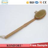 Natural Boar Cerdas Dry Body Bamboo Back Scrubber SPA escova para pele