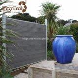 Los 2017 paneles de madera baratos de aluminio de la cerca del nuevo diseño para el jardín