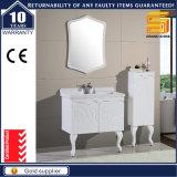 24 '' عال لمعان بيضاء طلاء لّك [بثرووم كبينت] وحدة مع مرآة