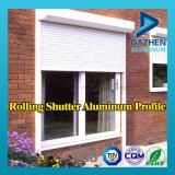 Profil en aluminium d'extrusion de porte de rouleau de roulement d'obturateur de guichet en aluminium de porte