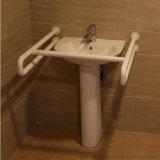 무능한 연장자를 위한 잘 고정된 화장실 손 씻는 그릇 횡령 가로장
