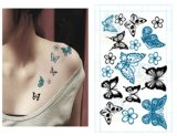 Tatuaje temporal del arte de la etiqueta engomada del tatuaje del cuerpo atractivo de la mariposa