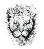 De modieuze 3D Sticker van de Tatoegering van de Kunst van de Sticker van de Tatoegering van de Leeuw Waterdichte
