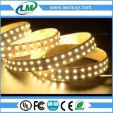 19.2W 3528暖かく白い住宅のつく/indoorライト二重列LEDのリボン