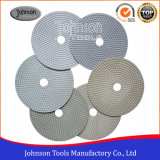 Od180mm Diamond Resin White Pad para polir pedra