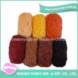 Fio extravagante tingido espaço do laço do Boucle do arco-íris para o lenço das mulheres