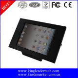 Soporte de visualización de escritorio del quiosco de la tablilla del iPad de la seguridad con el bloqueo