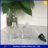 Frascos de vidro quadrados desobstruídos de 15 Ml 1 onça Eliquid com o conta-gotas de vidro sem perigo para as crianças