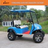 Тележка гольфа голубого цвета Ezgo электрическая, тележка гольфа 2 Seater дешевая для сбывания, охотясь тележка гольфа с задней коробкой