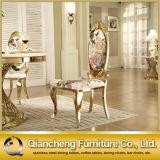 Color francés del oro de la silla de vector de cena del diseño moderno de la cara