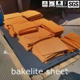 Folha Orange-Red/preta da baquelite da isolação de Pertinax no melhor preço com força mecânica favorável