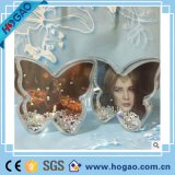Multifuncional Made in China Flower Shape Plastic Wedding Decoration Plastic Snow Globe Photo
