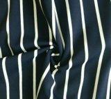 Tela blanca azul de la impresión de la tira simple para la ropa de deportes (HD1401023-1)