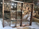 Precio de fábrica decorativo de la pantalla del acero inoxidable del color del oro de Rose de la sala de estar del hogar