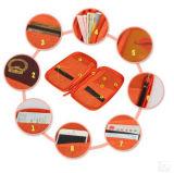 Baumwolle-Faux-Arbeitsweg-Kartenhalter-Multifunktionspass-Beutel-Handtasche-Kartenhalter