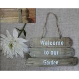누추한 우아한 장식적인 정원은 옥외 표시를 서명한다