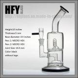 Toro 가장 새로운 두 배 마이크로 Hex Hex 유리제 연기가 나는 수관 공장을 도매하십시오